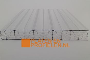 Polycarbonaat kanaalplaat 25 mm - 1250 mm breed