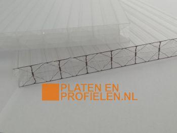 Polycarbonaat kanaalplaat 16mm - X-structuur - 980 x 4000 mm