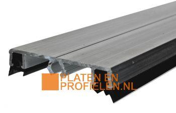 Aluminium Afdekprofiel - 56 mm breed - incl. beglazingsrubbers