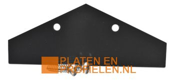 Eindschotje nokstuk - RAL7016 / RAL9005 / RAL9010 / Onbehandeld