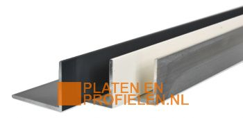 Aluminium L-profiel 40x30x2 mm - Brut en RAL-kleur