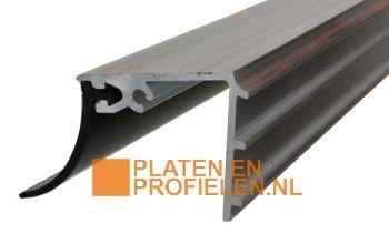 Muuraansluitprofiel - Brut aluminium