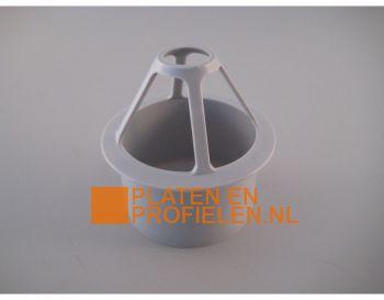 PVC gootuitloop, bladvanger, 79 mm