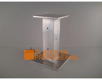 Aluminium stelvoet voor houten staander 120x120 mm