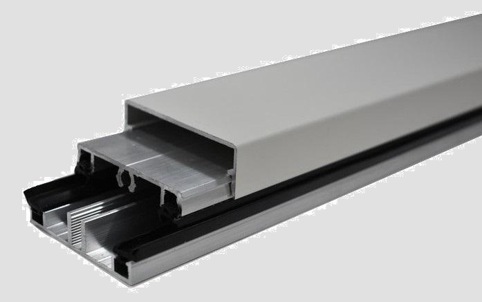 Koppelprofiel glas - aluminium onderprofiel + afdekprofiel + kliklijst. Voor het monteren van glas in een veranda of overkapping